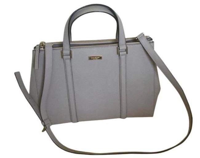 Item - Newberry Lane Large Lodan Moussfrost Saffiano Grey Leather Satchel