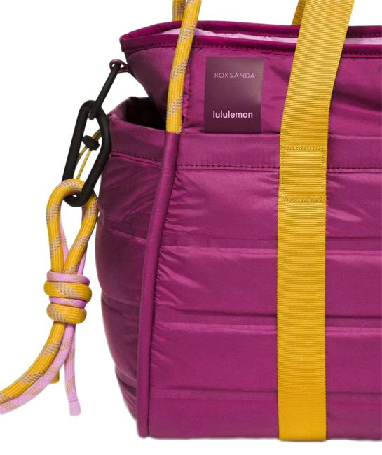Item - Roksanda Duffel Limited Edition Pink and Yellow Glyde Fabric Weekend/Travel Bag