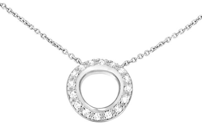 Item - Silver White Gold and Diamond Necklace