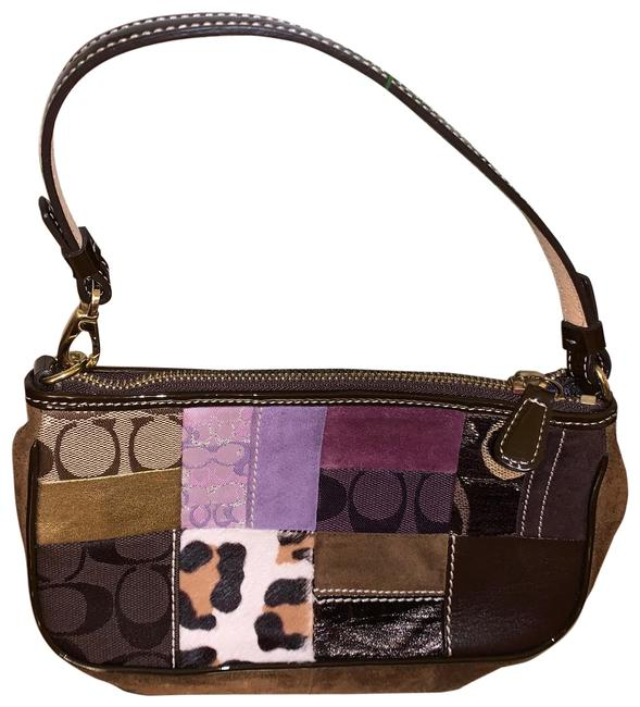 Item - Holiday Purse-limited Addition Purple /Black Leather & Patch Work Wristlet