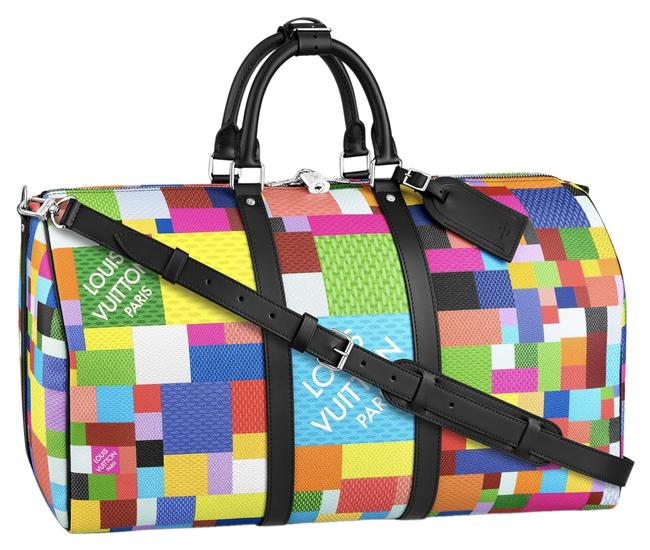 Item - Keepall Lego Bandouliere 50 Multicolor Damier Black Canvas Weekend/Travel Bag