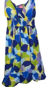 She's cool short dress yellow, green, blue, purple Summer Lace Lace Trim on Tradesy