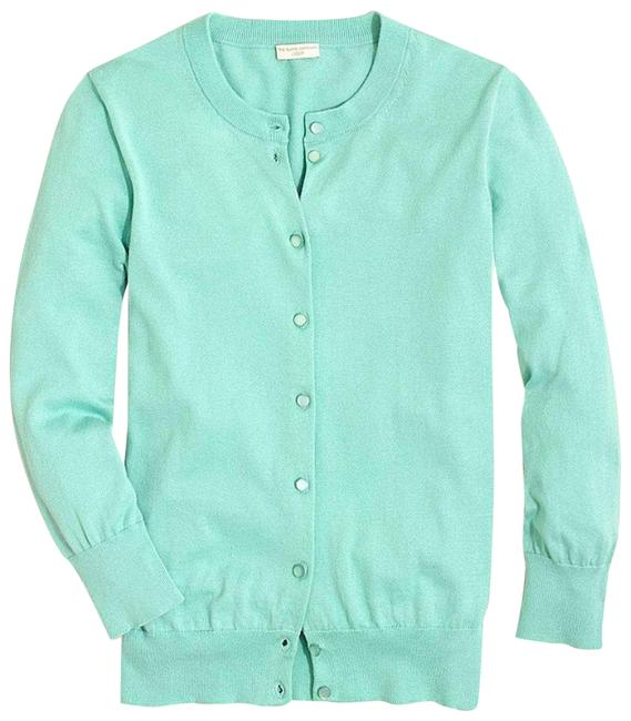 Item - Green Mint Button-front Clare Cardigan Size 4 (S)