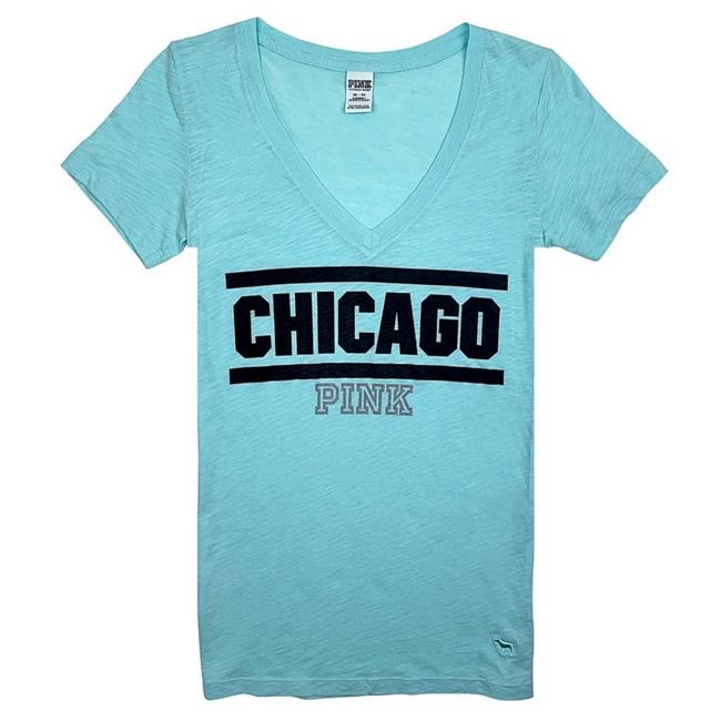 Item - Blue Chicago V-neck Perfect Tee Shirt Size 0 (XS)