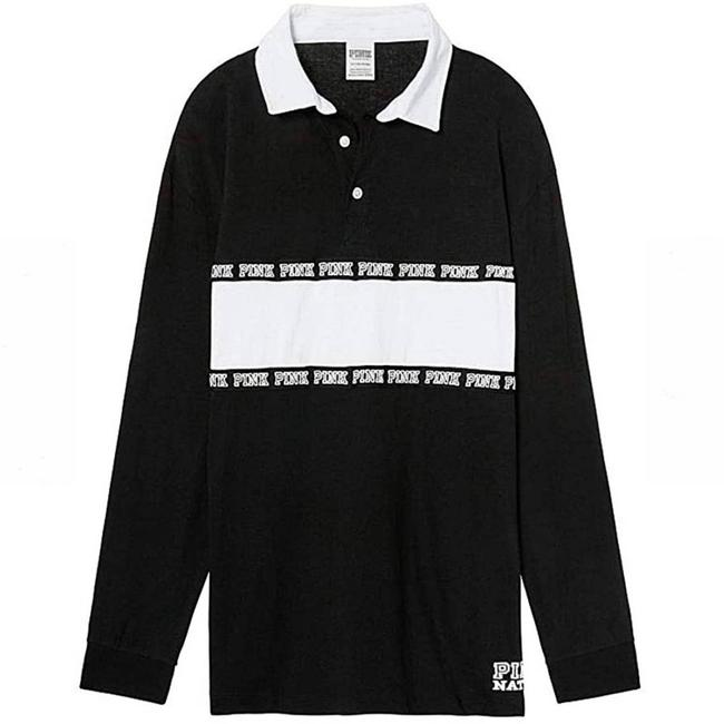 Item - Black Rugby Collared Tee Shirt Size 8 (M)
