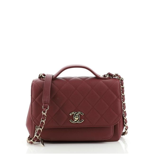 Item - Classic Flap Business Affinity Quilted Caviar Small Red Leather Cross Body Bag