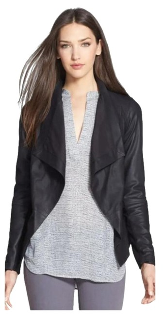 Item - Charcoal Black Draped Shawl Collar Jacket Size 4 (S)