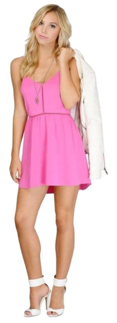Item - Pink A Walk By The Beach Short Casual Dress Size 4 (S)