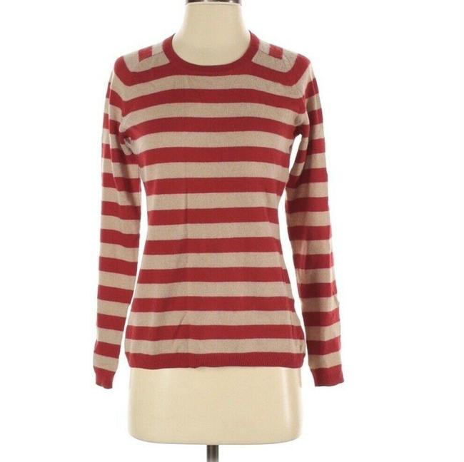 Item - Cashmere Horizontal Stripe Red Sweater