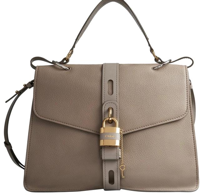 Item - Large Aby Motty Gray Leather Satchel