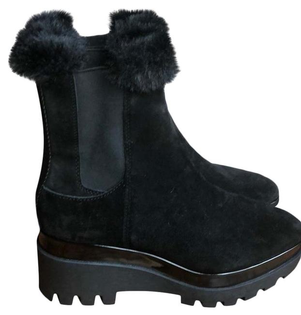 Item - Black Bax Suede Wedge Boots/Booties Size US 9 Regular (M, B)
