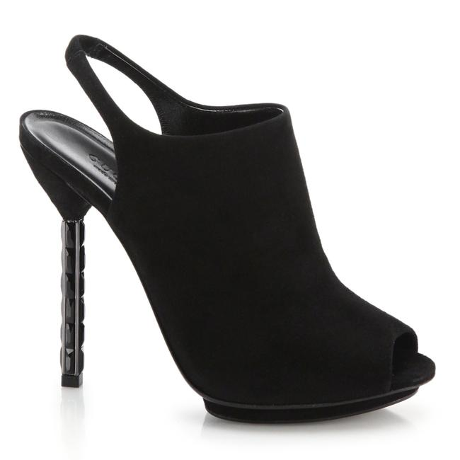 Item - Black Adlena Crystal Stiletto Suede Boots/Booties Size EU 37.5 (Approx. US 7.5) Regular (M, B)