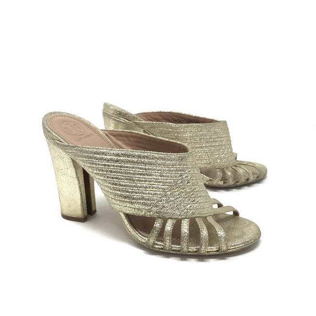 Item - Gold Brida Leather Sandal Heeled Mules/Slides Size US 9 Regular (M, B)