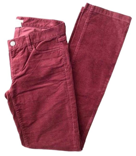 Item - Pink Red Burgundy Corduroy Matchstick Pants Size 4 (S, 27)
