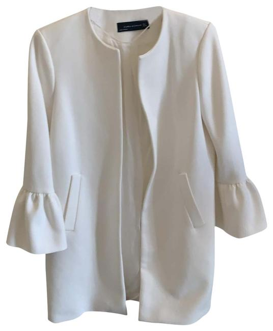 Item - White With Frill Sleeves Coat Size 4 (S)
