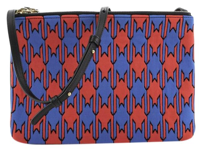 Item - Trio Printed and Large Multicolor Leather Jacquard Cross Body Bag