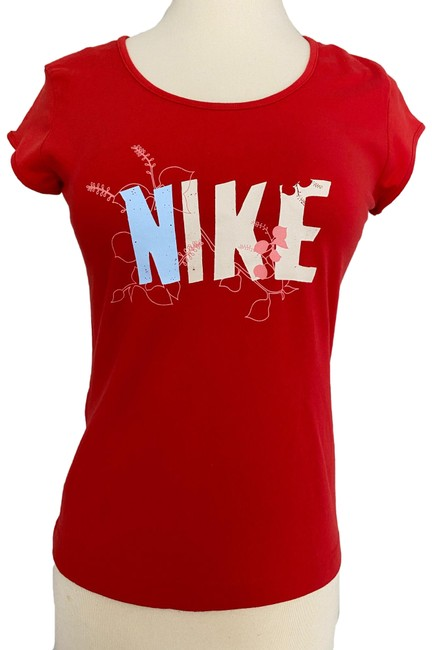 Item - Red (Nwt) Flower Stencil Activewear Top Size 4 (S)