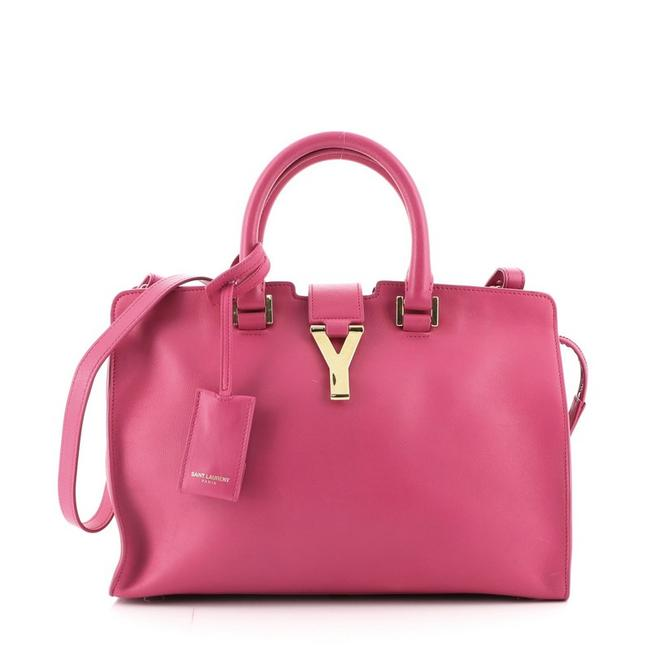 Item - Y Cabas Classic Small Pink Leather Satchel
