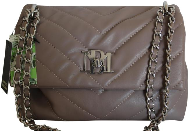 Item - Crossbody V Quilting with Lock Taupe Vegan Leather Shoulder Bag