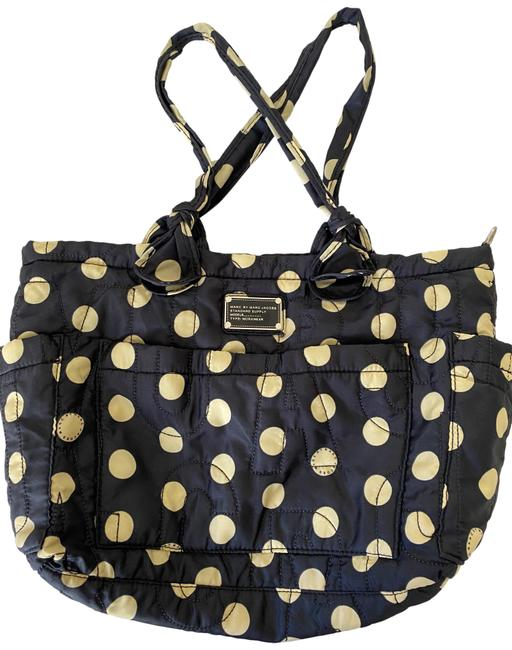 Item - Pretty Elizababy Navy with Polka Dots Diaper Bag