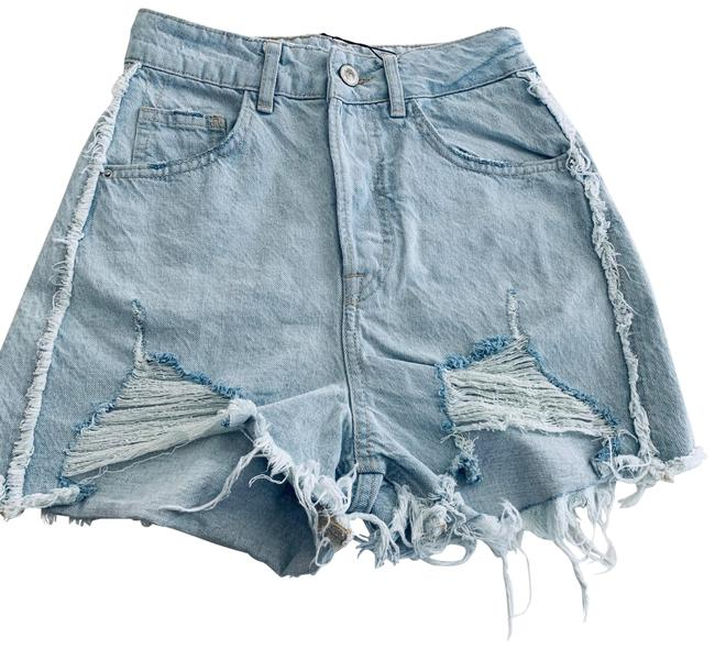 Item - Blue Ripped High Rise Denim Jean Shorts Size 2 (XS, 26)