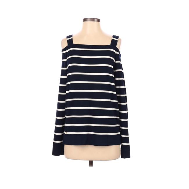 Item - Mariniere Cold Shoulder Tee Blue Sweater