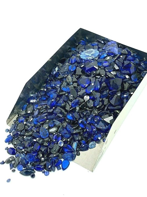 Item - Blue Lot Of Gemstone Loose Gems 450 Carats Scrap Mix Making