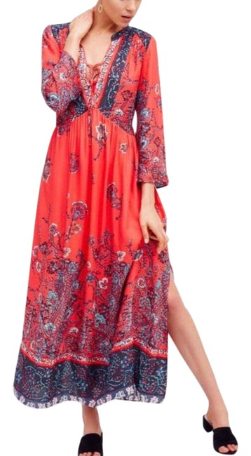 Item - Red If You Only Knew Long Casual Maxi Dress Size 2 (XS)