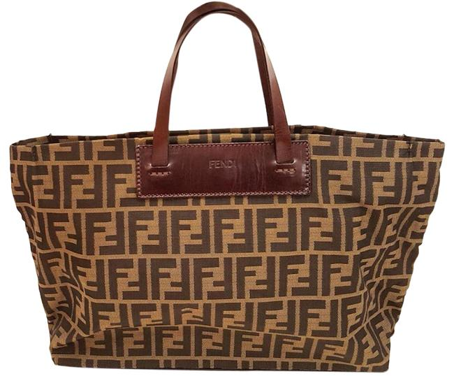 Item - Bag Zucca Foldable Packable Shopping Travel Handbag Brown Canvas Tote