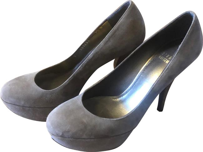 Item - Gray Suede Heels Platforms Size US 7.5 Narrow (Aa, N)
