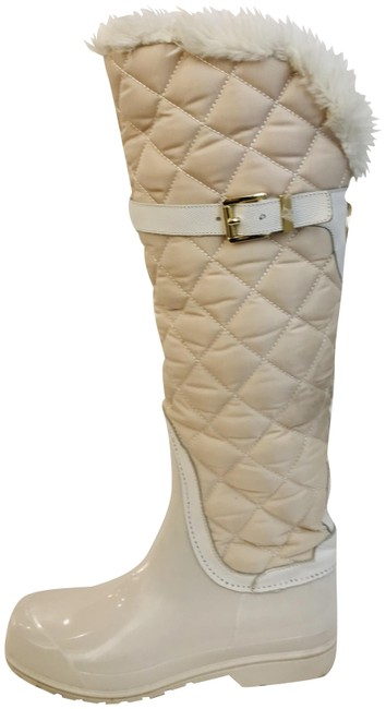 Item - Cream Fulton Quilted Rainboots Boots/Booties Size US 9 Regular (M, B)