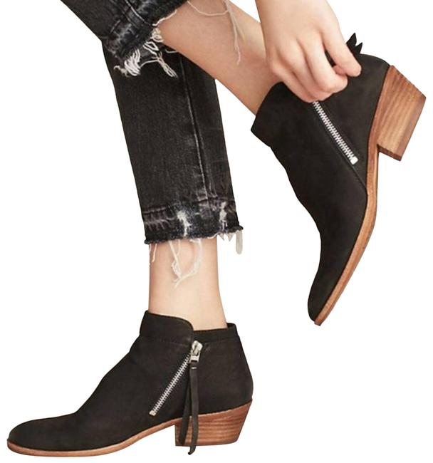 Item - Black Leather Packer Ankle Boots/Booties Size US 6.5 Regular (M, B)