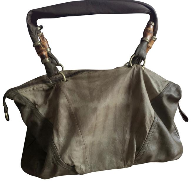 Item - Shoulder Bag Tan and Brown - Two Toned Leather Satchel
