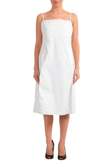 """Item - White Women's """"Dewhy_we"""" Sleeveless Fit&flare Mid-length Short Casual Dress Size 00 (XXS)"""