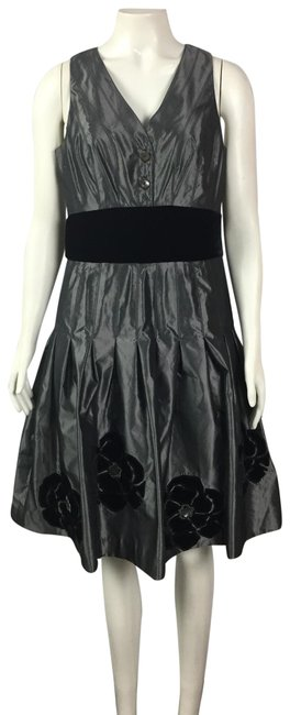 Item - Black None Mid-length Cocktail Dress Size 6 (S)
