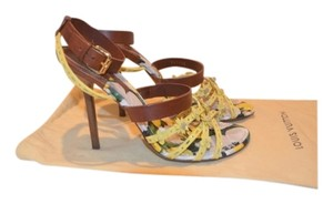 Louis Vuitton Yellow and Brown Sandals