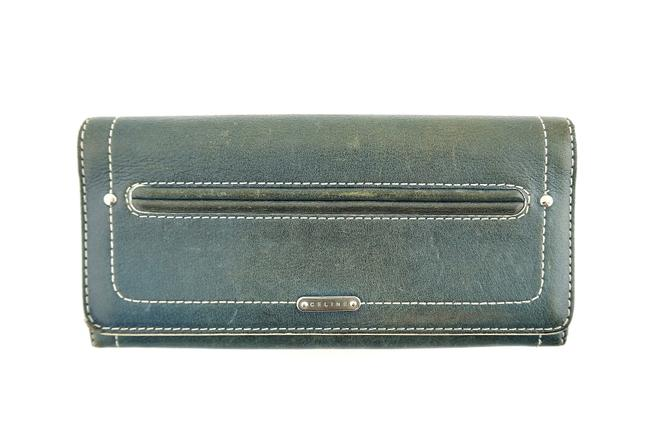 Item - Blue Green Clutch Leather Italy Wallet