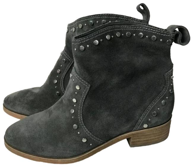 Item - Gray Tobin Studded Suede Western Boots/Booties Size US 5.5 Regular (M, B)