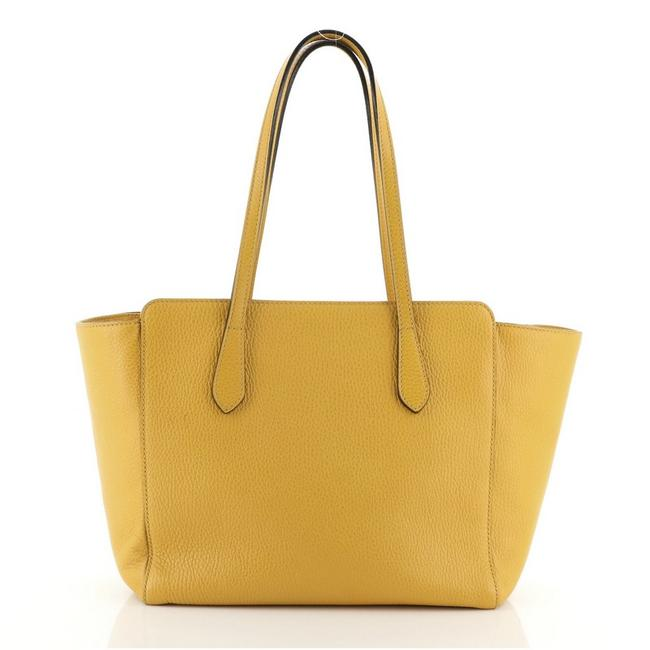 Item - Bag Swing Small Yellow Leather Tote