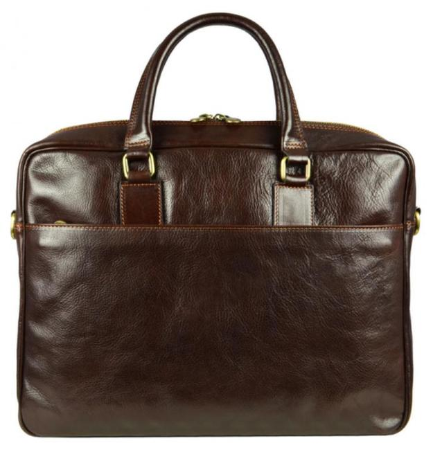 Item - The Little Prince Dark Brown Cowhide Leather Laptop Bag
