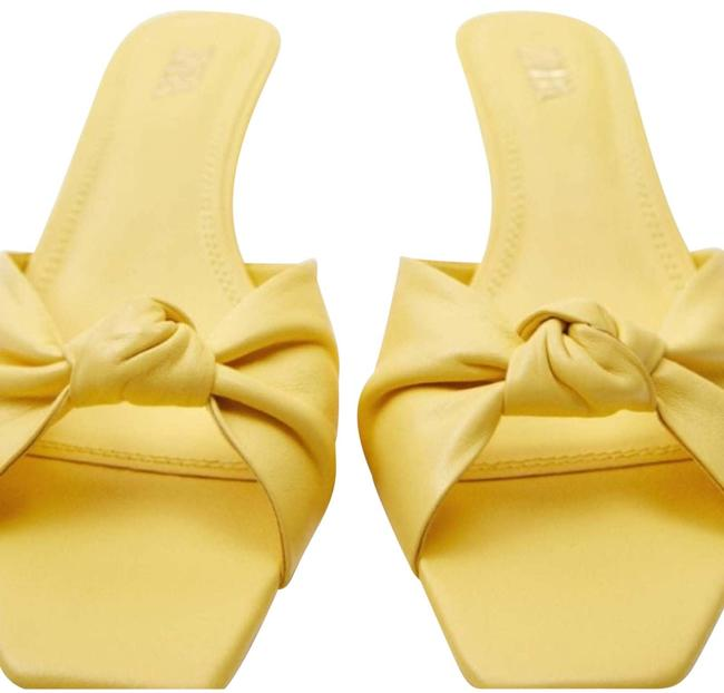 Item - Yellow Knotted Heeled Leather Sandals Size US 5 Regular (M, B)