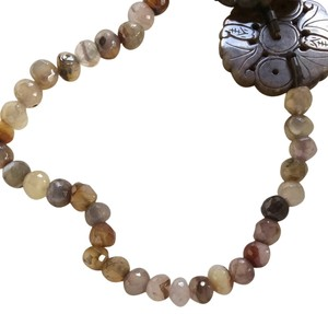Devora N. Authentic Designer Handmade Floral Beaded Necklace