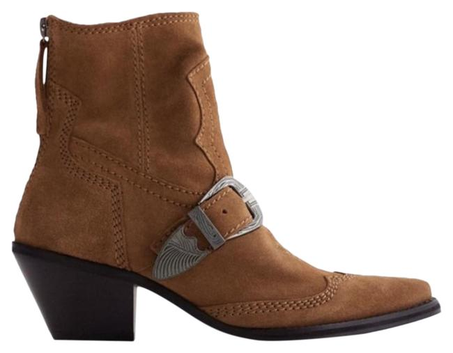 Item - Brown Buckled Heeled Split Suede Ankle Boots/Booties Size US 6.5 Regular (M, B)