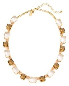 Kate Spade New Kate Spade New York Formal Facets Gold Tone Neutral Stones Collar Necklace 16