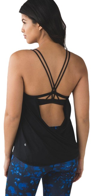 Item - Black Strappy Make A Activewear Top Size 10 (M)