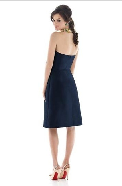 Alfred Sung Knee-length Strapless Dupioni Dress