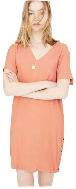 Item - Pink Button Easy In Sweet Dahlia Short Casual Dress Size 8 (M)