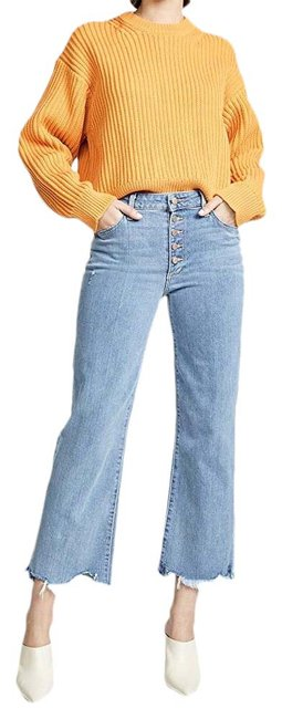 Item - Blue Distressed High Rise Destroyed Flare Leg Jeans Size 8 (M, 29, 30)