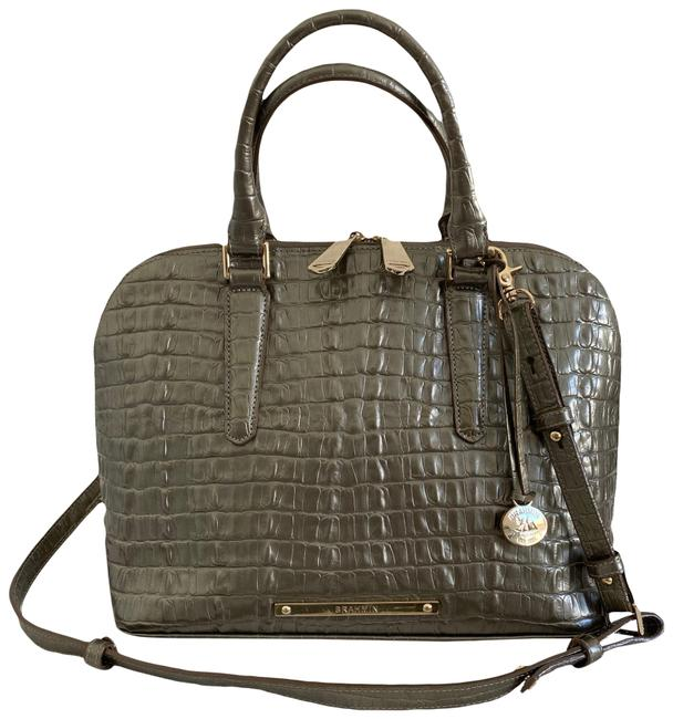 Item - Vivian Dome 2 Way Metallic Silver Bronze Leather Satchel