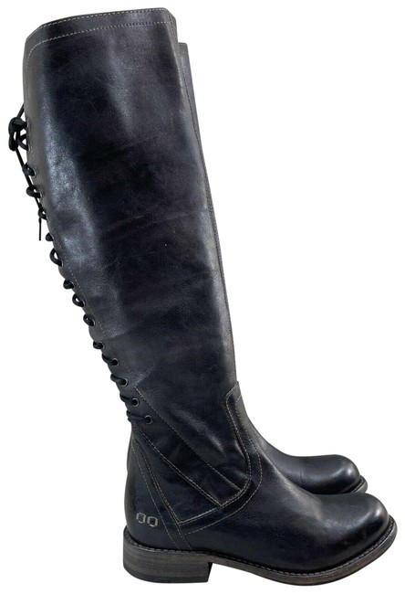 Item - Black Rustic Surrey Tall Full Lace Up Women's Boots/Booties Size US 7.5 Regular (M, B)